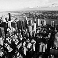 View North East Of Manhattan Queens East River From Empire State Building by Joe Fox