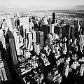 View North East Of Manhattan Queens East River From Observation Deck Empire State Building by Joe Fox
