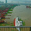 View Of A Ship On Its Side From A Bridge Near Bangkok-thailand by Ruth Hager