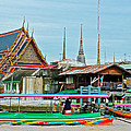 View Of A Temple From Waterway Of Bangkok-thailand by Ruth Hager