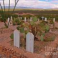 View Of Arizona From Boothill Cemetery by John Malone