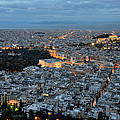 View Of Athens During Dawn by George Atsametakis