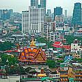 View Of Bangkok Buildings From Grand China Princess Hotel In Bangkok-thail by Ruth Hager