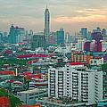 View Of Bangkok Near Dusk From Grand China Princess Hotel In Bangkok-thailand by Ruth Hager