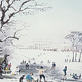 View Of Buckingham House And St James Park In The Winter by John Burnet