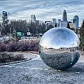 View Of Charlotte Nc Skyline From Midtown Park by Alex Grichenko