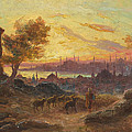 View Of Constantinople by Francois Prieur-Bardin