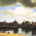 View Of Delft Vermeer by Johannes Vermeer