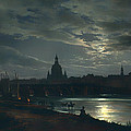 View Of Dresden By Moonlight by Mountain Dreams