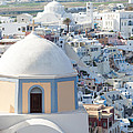 View Of Fira With Famous Church Santorini Greece by Matteo Colombo