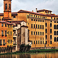 View Of Florence Along The Arno River by Greg Matchick