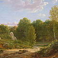 View Of Fontainebleau Forest, 1829 Oil On Canvas by Jean Joseph Xavier Bidauld