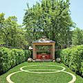 View Of Gazebo In Garden by Billy Cunningham