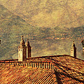 View Of Lake Como Over The Rooftop Of Villa Monastero by Greg Matchick
