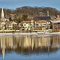 View Of Lambertville Nj From New Hope Pa-winter 2  by Alex Vishnevsky
