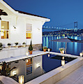View Of Luxurious Resort At Night by Erhard Pfeiffer
