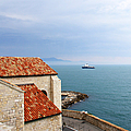 View Of Mediterranean In Antibes France by Ben and Raisa Gertsberg