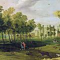 View Of Nonsuch Palace In The Time by Flemish School
