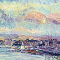 View Of Paris by Albert Charles Lebourg