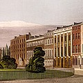 View Of Portman Square, North Side, 1816 by Rudolph Ackerman