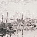 View Of Rouen by Claude Monet