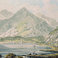 View Of Snowdon Wc On Paper by Rev. Richard Salvey Booth