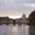 View Of St Peter's Basilica And Saint Angel Bridge by Goncalo Feliciano