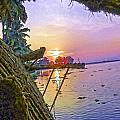View Of Sunrise From A Houseboat by Ashish Agarwal