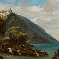 View Of Tangier From The Seashore by Ferdinand Victor Eugene Delacroix