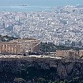 View Of The Acropolis From Lykavittos Hill by Anthony Doudt