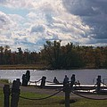 View Of The Creek From Catskill Point by Ellen Levinson