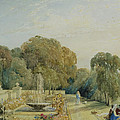 View Of The Gardens At Chatsworth by Frances Elizabeth Swinburne