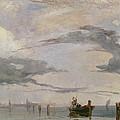 View Of The Lagoon Near Venice, 1826  by Richard Parkes Bonington
