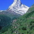 View Of The Matterhorn And The Town by Panoramic Images