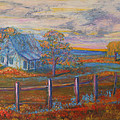 View Of The Old Farmhouse by Kathy Peltomaa Lewis