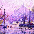 View Of The Port Of Marseilles Enhanced Color Iv by Paul Signac - L Brown