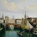 View Of The Riddarholmskanalen by Gustav Palm