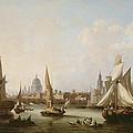 View Of The River Thames  by John Thomas Serres