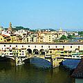View On Ponte Vecchio From Uffizi Gallery by Irina Sztukowski