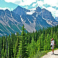 View On Trail To Lake Agnes In Banff Np-alberta by Ruth Hager
