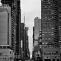 View Up West 42nd Street From The Hudson River New York City by Joe Fox
