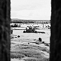 viewpoint looking out through stone fortifications towards hore abbey from the Rock of Cashe by Joe Fox