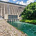 Views Of Man Made Dam At Lake Fontana Great Smoky Mountains Nc by Alex Grichenko