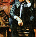 Viggo Posed In A Chair by Janice MacLellan