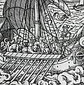 Viking Ship by German School