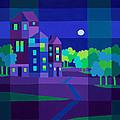 Villa Night by Michael Jernegan