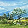 Village Garden by Susan Hanna