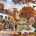 Village In Autumn by Steve Crisp