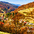 Village In The Valley by Les Palenik