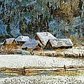 Village In Winter by Dragica  Micki Fortuna